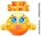 yellow emoji cartoon character...   Shutterstock .eps vector #1480694960