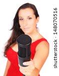 a female singer in action...   Shutterstock . vector #148070516