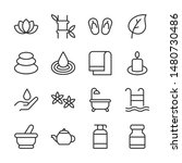 beauty and spa line icons set... | Shutterstock .eps vector #1480730486