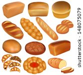 illustration set of loaves of... | Shutterstock .eps vector #148075079