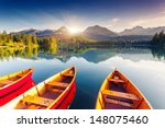 mountain lake in national park... | Shutterstock . vector #148075460