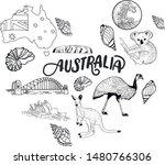 australia vector travel... | Shutterstock .eps vector #1480766306