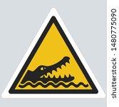 vector yellow dangerous... | Shutterstock . vector #1480775090