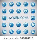 shine glossy computer icon... | Shutterstock .eps vector #148078118