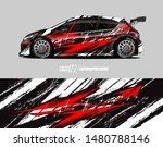 car wrap decal design concept.... | Shutterstock .eps vector #1480788146