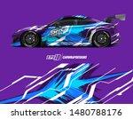 car wrap decal design concept.... | Shutterstock .eps vector #1480788176
