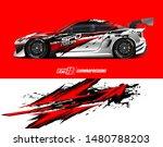 car wrap decal design concept.... | Shutterstock .eps vector #1480788203