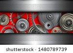 background metallic with gear... | Shutterstock .eps vector #1480789739
