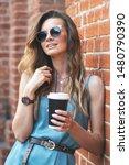 coffee break. young caucasian... | Shutterstock . vector #1480790390