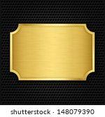 gold texture plate  vector...   Shutterstock .eps vector #148079390