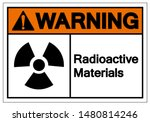 warning radioactive materials... | Shutterstock .eps vector #1480814246