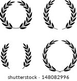 laurel wreaths set vector...   Shutterstock .eps vector #148082996