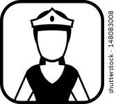 princess vector icon | Shutterstock .eps vector #148083008