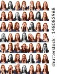 49 different expressions of a... | Shutterstock . vector #148083968