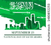saudi arabia national day in... | Shutterstock .eps vector #1480852253