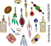 jewelry collection clipart ... | Shutterstock .eps vector #1480862999