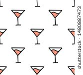 cocktail seamless doodle... | Shutterstock .eps vector #1480887473