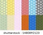 colorful traditional japanese... | Shutterstock .eps vector #1480892123