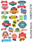 set marketing labels  | Shutterstock .eps vector #148091378