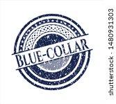 blue blue collar distressed... | Shutterstock .eps vector #1480931303