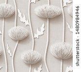 3d   Floral Wallpaper  White...