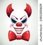 creepy clown mask. vector... | Shutterstock .eps vector #1481000609