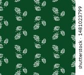 seamless pattern of silhouettes ... | Shutterstock .eps vector #1481023799