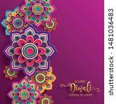 diwali  deepavali or dipavali... | Shutterstock .eps vector #1481036483