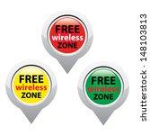 set of tree free wireless zone... | Shutterstock .eps vector #148103813