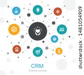 crm trendy web concept with...