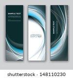 vector banners. abstract design.... | Shutterstock .eps vector #148110230