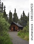 Small photo of Denali National Park. Alaska. U.S.A. June 24, 2019. Savage River cabin #30. Built circa 1925-26 to support road crews in the summer and rangers in the winter.