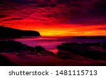 the beauty sunset in indonesia | Shutterstock . vector #1481115713