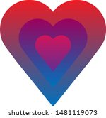 heart with gradient. simple... | Shutterstock .eps vector #1481119073