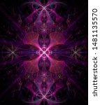 Abstract Fractal Star With...