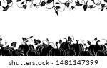 pumpkin. black silhouette....   Shutterstock .eps vector #1481147399