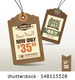 vintage style price tags design  | Shutterstock .eps vector #148115528