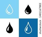 vector drop black icons on the... | Shutterstock .eps vector #1481167883
