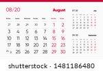 august page. 12 months premium... | Shutterstock .eps vector #1481186480