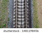 Top View Of Iron Rails And...