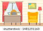 home office. cozy living room... | Shutterstock . vector #1481251163