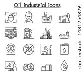 oil icon set in thin line style | Shutterstock .eps vector #1481254829