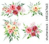 watercolor flower set ...   Shutterstock . vector #1481267663