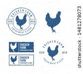template chicken logo. labels ... | Shutterstock .eps vector #1481278073
