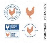 template chicken logo. labels ... | Shutterstock .eps vector #1481278079