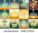set of summer typographical... | Shutterstock .eps vector #148127816