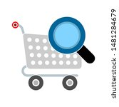 shopping cart searching icon....