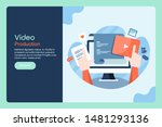 video production  video... | Shutterstock .eps vector #1481293136