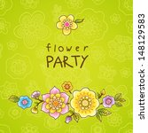 invitation card with fine...   Shutterstock .eps vector #148129583