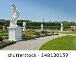 garden with sculptures in... | Shutterstock . vector #148130159